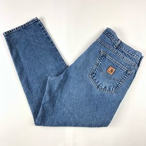 Carhartt Mens Relaxed Fit Light Blue Jeans